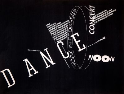 CalArts poster: Dance Concert: Work in Progress by