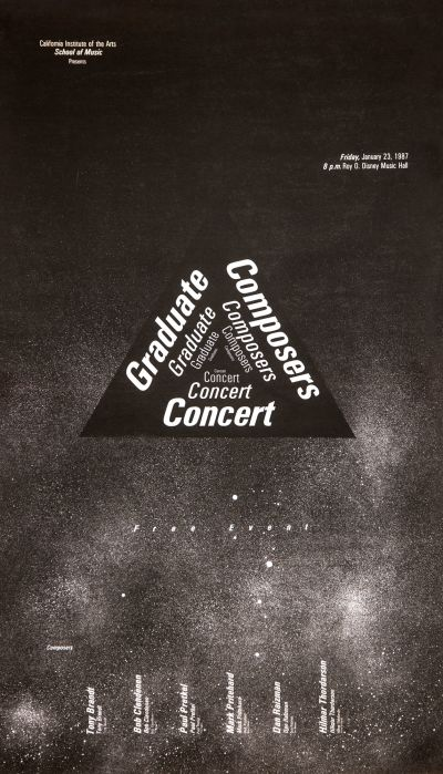 CalArts poster: Graduate Composers Concert by