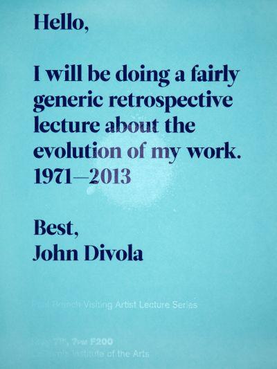 CalArts poster: John Divola by