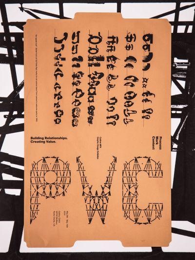 CalArts poster: PWC: Process Work Context by Calvin Rye