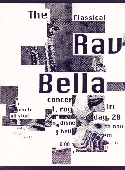 CalArts poster: The Classical Rav Bella by