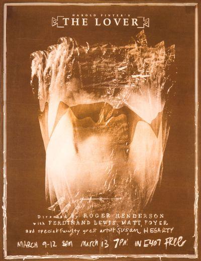 CalArts poster: Harold Pinter's The Lover by