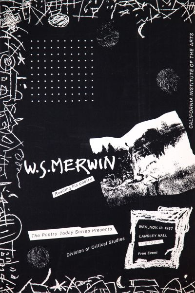CalArts poster: W.S. Merwin by