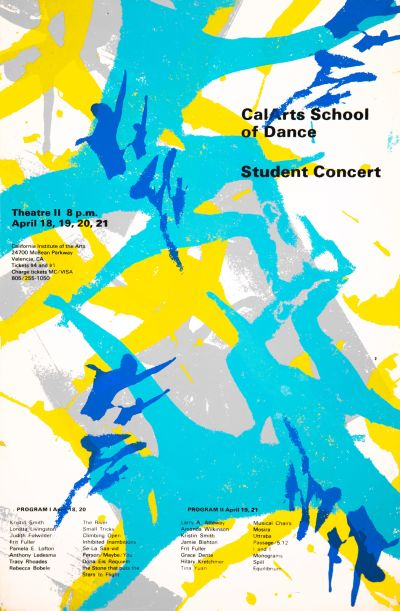CalArts poster: CalArts School of Dance Student Concert (1/2) by