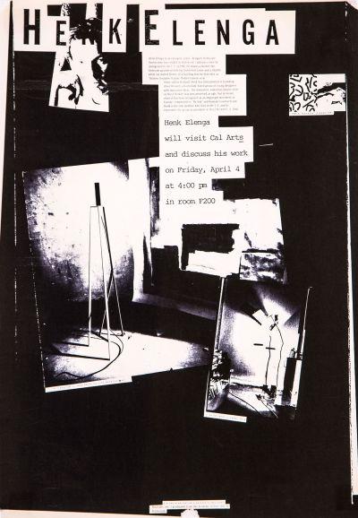 CalArts poster: Henk Elenga by