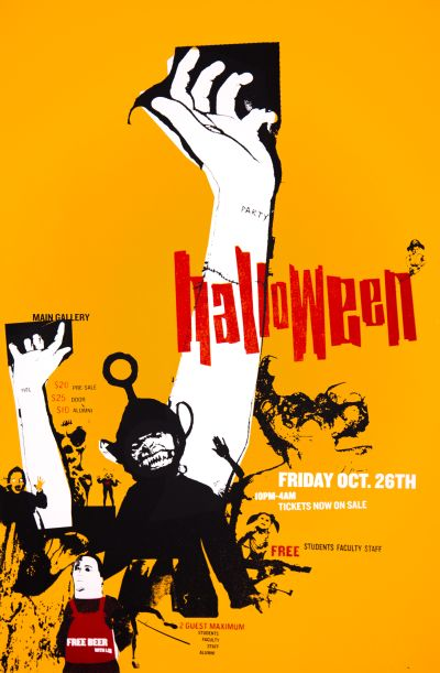 CalArts poster: 2001 Halloween by Andrew Bernet