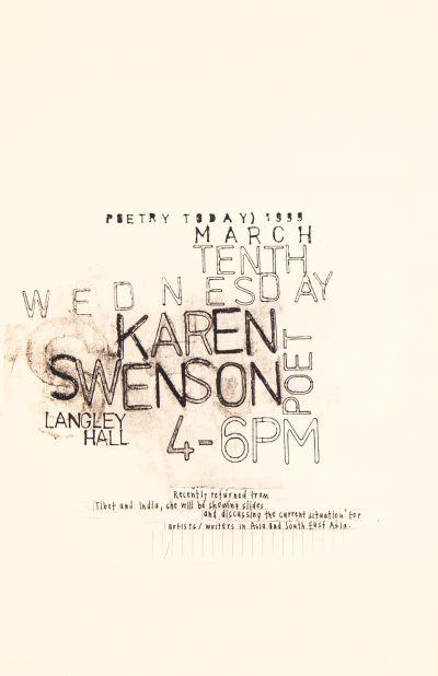 CalArts poster: Karen Swenson by