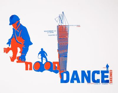 CalArts poster: 1990 Noon Dance by