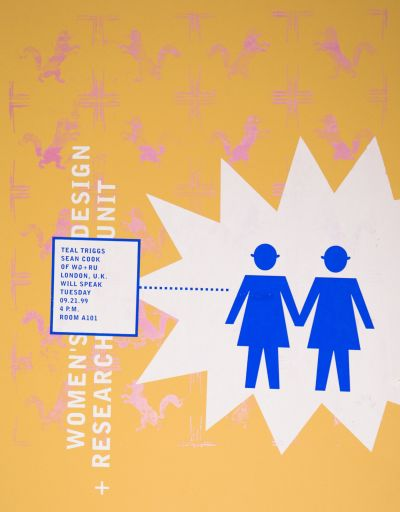 CalArts poster: Women's Design + Research Unit by John Kieselhorst
