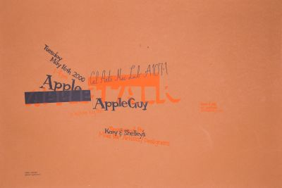 CalArts poster: Apple Guy by