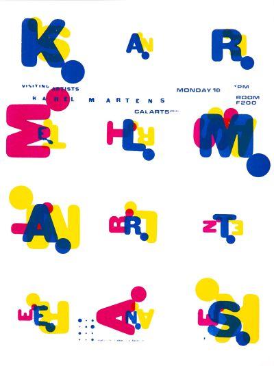 CalArts poster: Karel Martens by Karen Hirt