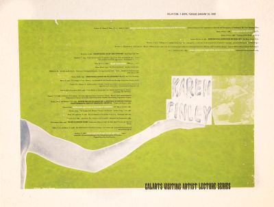 CalArts poster: Karen Finley by Daniel Holmes