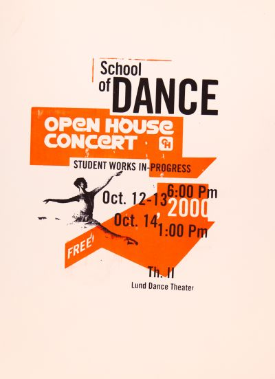 CalArts poster: 2000 Open House Concert by