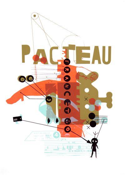 CalArts poster: Francette Pacteau by Sophie Dobrigkeit