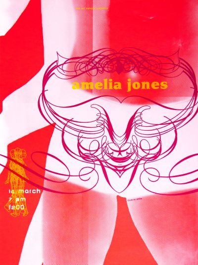 CalArts poster: Amelia Jones by