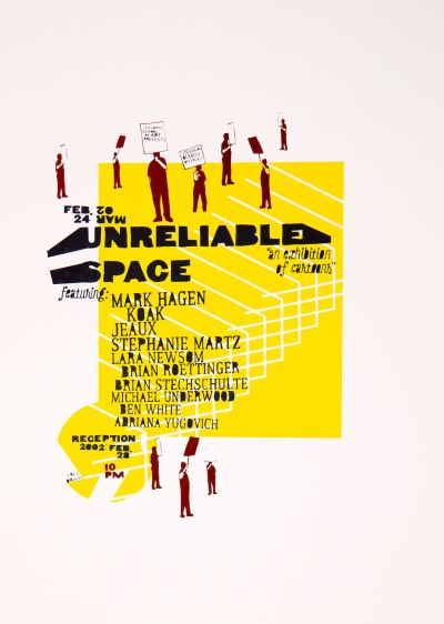 CalArts poster: Unreliable Space by Brian Roettinger