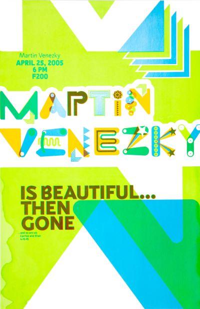 CalArts poster: Martin Venezky by Eli Carrico Yasmin Khan