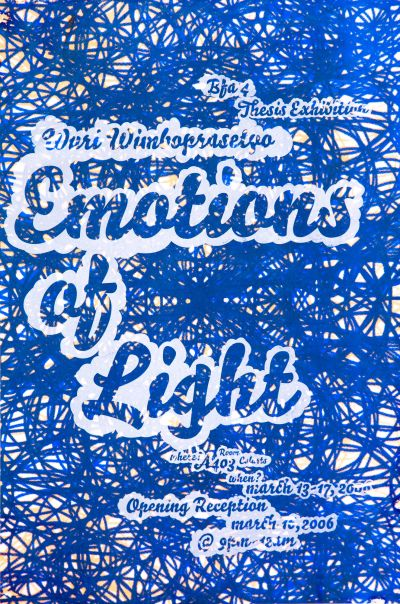CalArts poster: Emotions of Light by Agung Wimboprasetyo