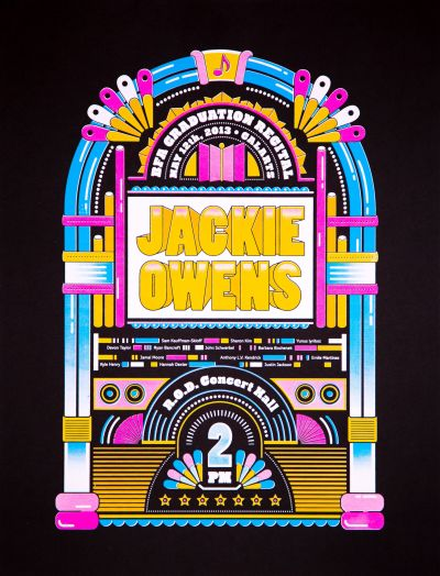 CalArts poster: BFA Graduation Recital: Jackie Owens by Christopher Burnett