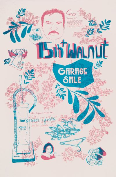 CalArts poster: 15th Walnut Garage Sale by
