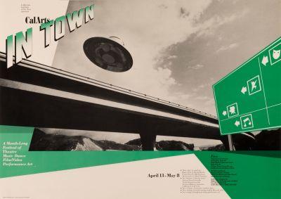 CalArts poster: CalArts in Town by Koji Takei Tim Papienski