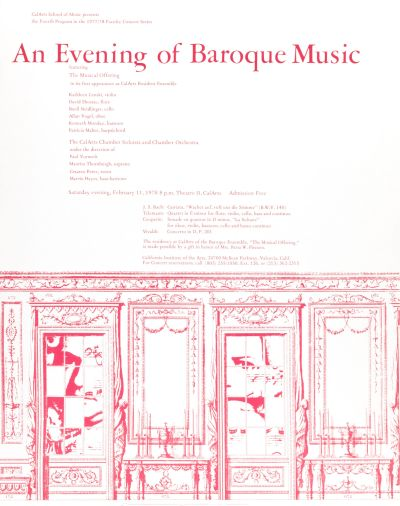CalArts poster: An Evening of Baroque Music by