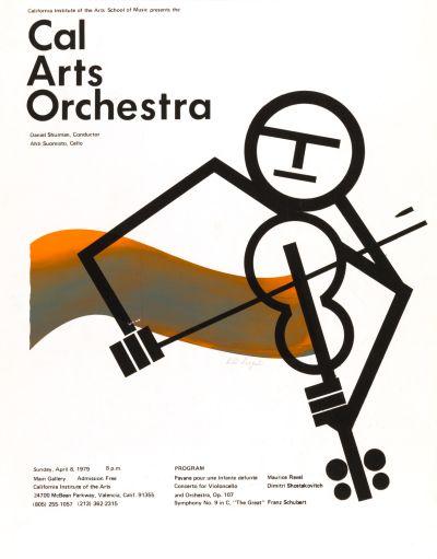 CalArts poster: CalArts Orchestra by Bill Siegal