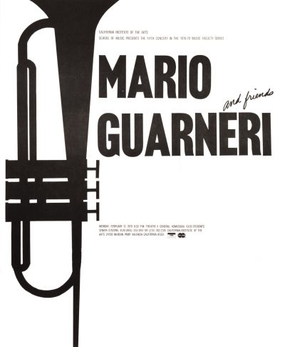 CalArts poster: Mario Guarneri and Friends by