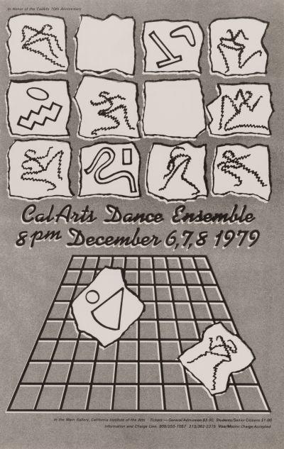 CalArts poster: CalArts Dance Ensemble by John Todd Cleveland
