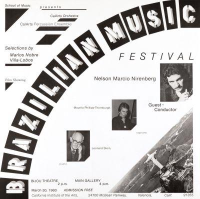 CalArts poster: Brazilian Music Festival by