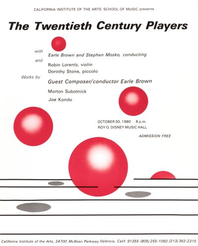 CalArts poster: The Twentieth Century Players by