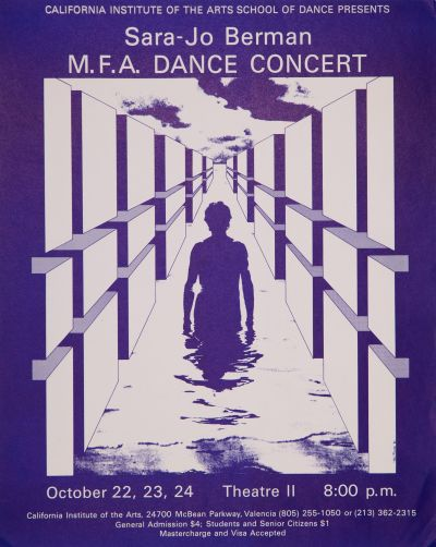 CalArts poster: Sara-Jo Berman Dance Concert by Tami Pivnick