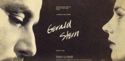 CalArts poster: Gerald Stern by Kiran RajBhandary William Ticineto