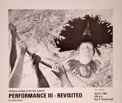 CalArts poster: Performance III – Revisited by Saad Mohammed