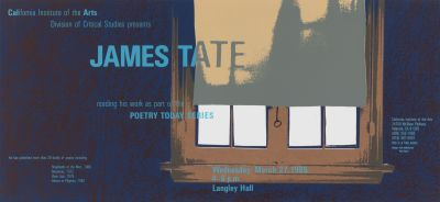 CalArts poster: James Tate by Alfred Davis Neil Kellerhouse