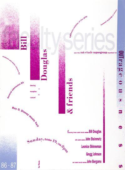 CalArts poster: Bill Douglas & Friends by