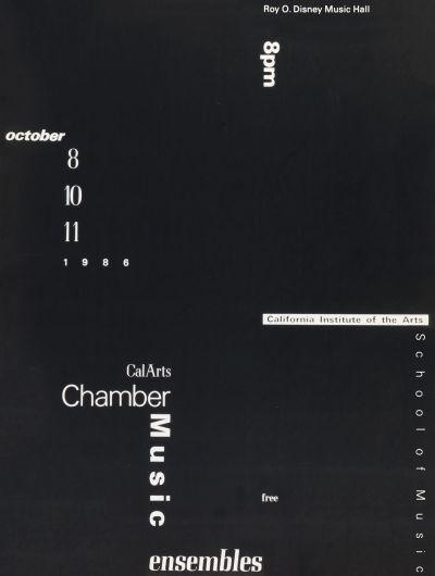 CalArts poster: CalArts Chamber Music Ensembles by