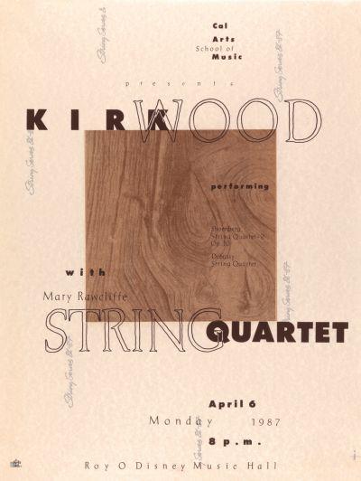 CalArts poster: Kirkwood String Quartet by
