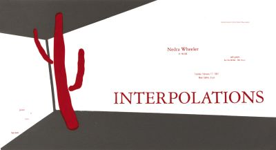 CalArts poster: Interpolations by