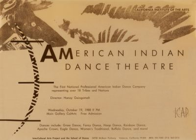CalArts poster: American Indian Dance Theatre by
