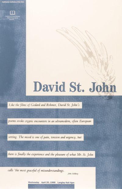 CalArts poster: David St.John by