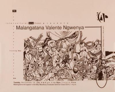 CalArts poster: Malangatana Valenete Ngwenya by