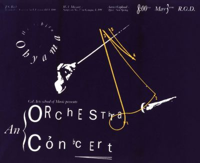CalArts poster: An Orchestra Concert by