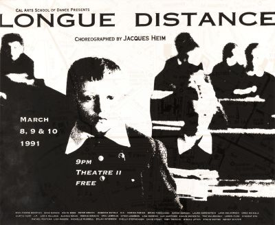 CalArts poster: Longue Distance by
