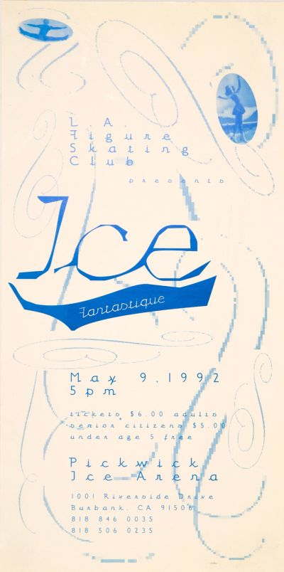 CalArts poster: Ice Fantastique by Margo Johnson