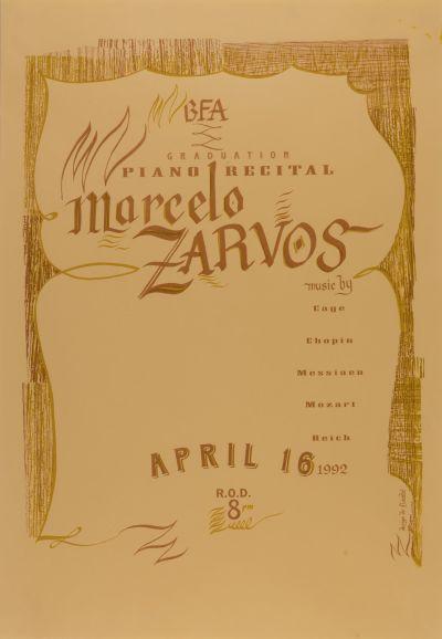CalArts poster: BFA Graduation Piano Recital Marcelo Zarvos by