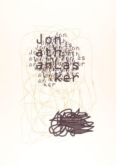 CalArts poster: Jonathan Lasker by