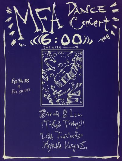 CalArts poster: MFA Dance Concert by