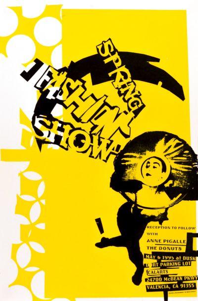 CalArts poster: Spring Fashion Show by David Vegezzi