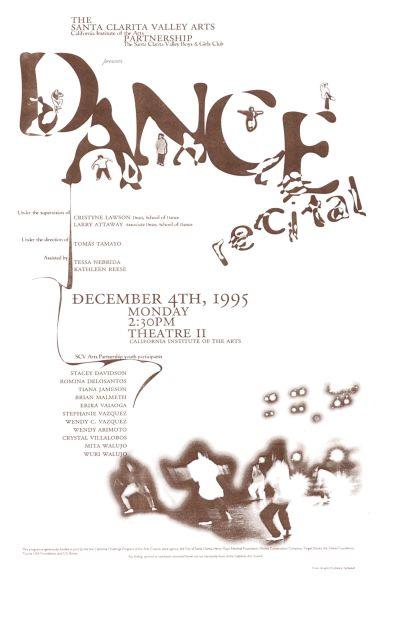 CalArts poster: Dance Recital by Juliana Sankaran-Felix